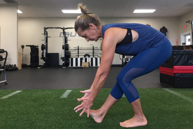 Muv Strong dry land mobility training hip sit