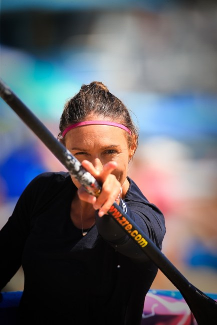 Annabel Anderson Pacific Paddle Games victory glance