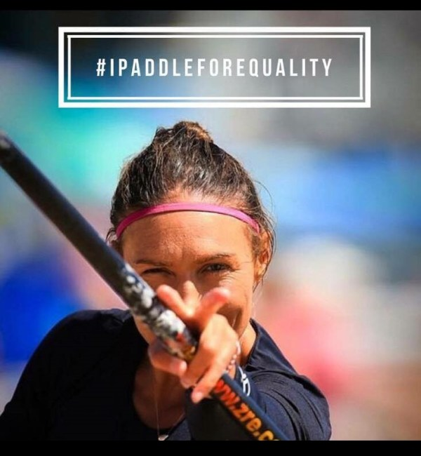 Annabel Anderson paddle for equality