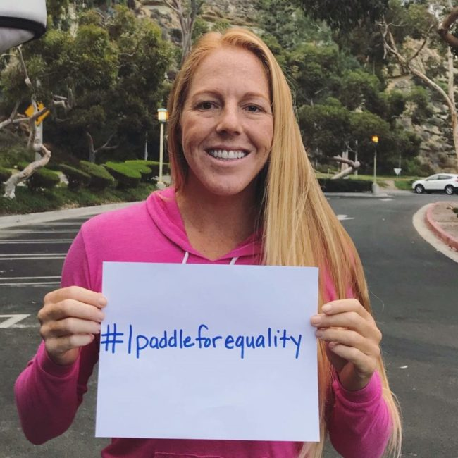 Candice Appleby paddle for equality
