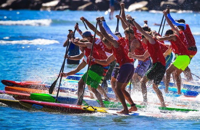 Pacific Paddle Games Men's Distance start
