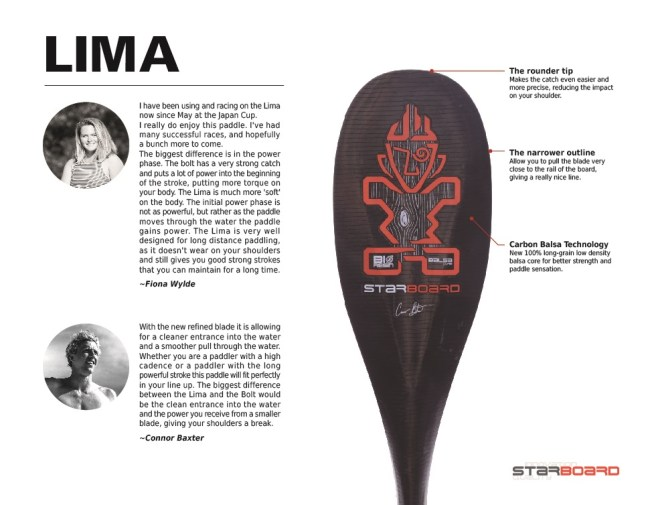 Starboard Lima Paddle
