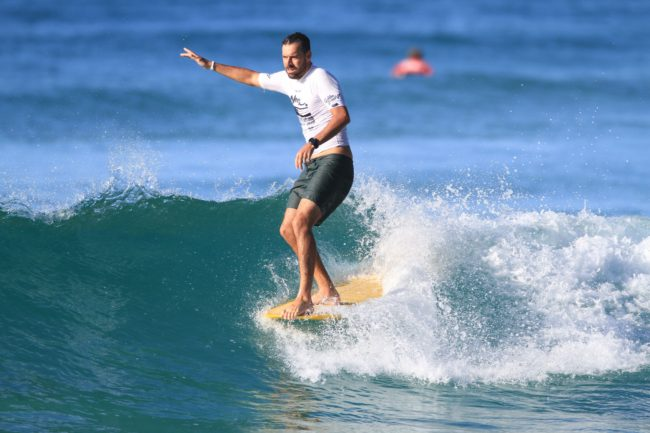 Save the Waves Noosa WSR ambassador Josh Constable hr. Photo Noosa Festival of Surfing