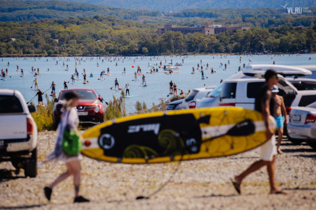 Russian 2017 SUP World Record attempt yellow