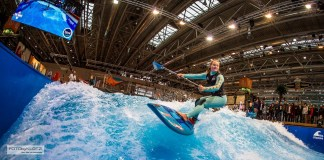Fiona Wylde boot Dusseldorf wave pool