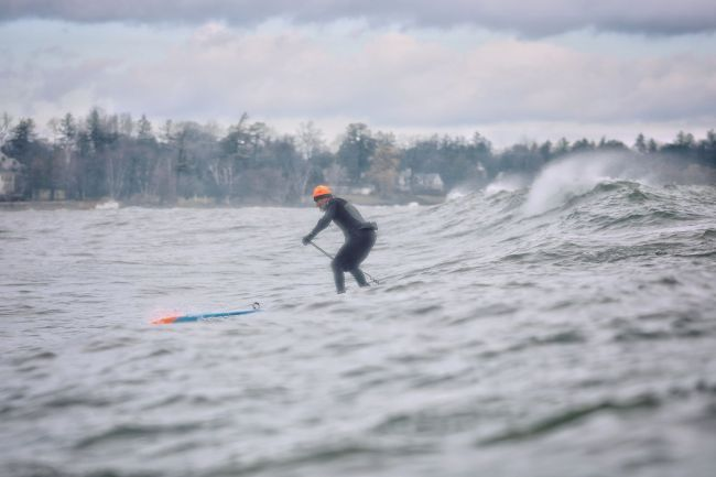 Larry Caine Starboard SUP winter rider