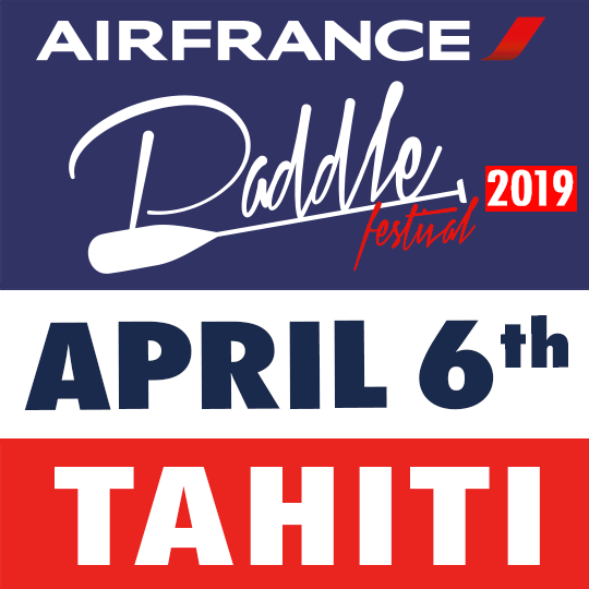 Air France Tahiti Paddle Festival 2019 promo logo
