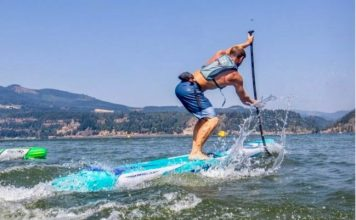 Josh Riccio F-ONE SUP downwind