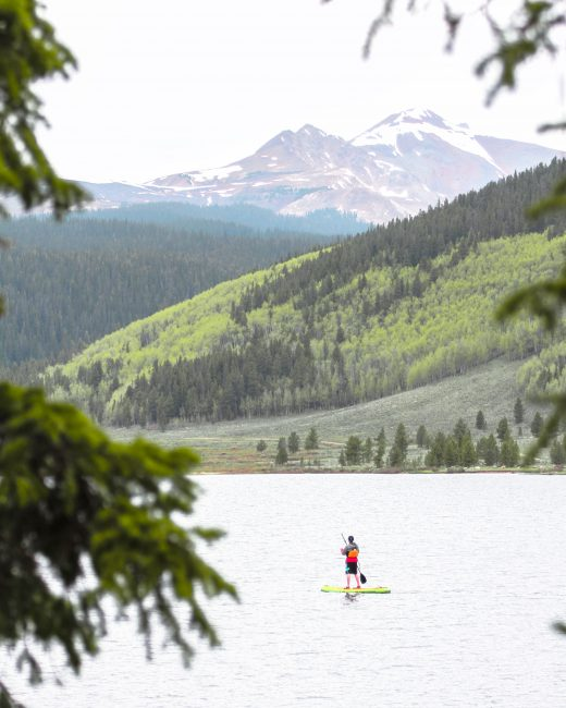 Gunnison Colorado Spring Lake stand up paddling