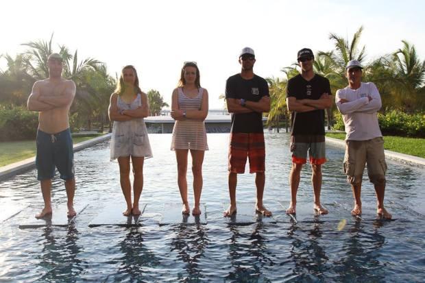 Team GB SUP pool pose