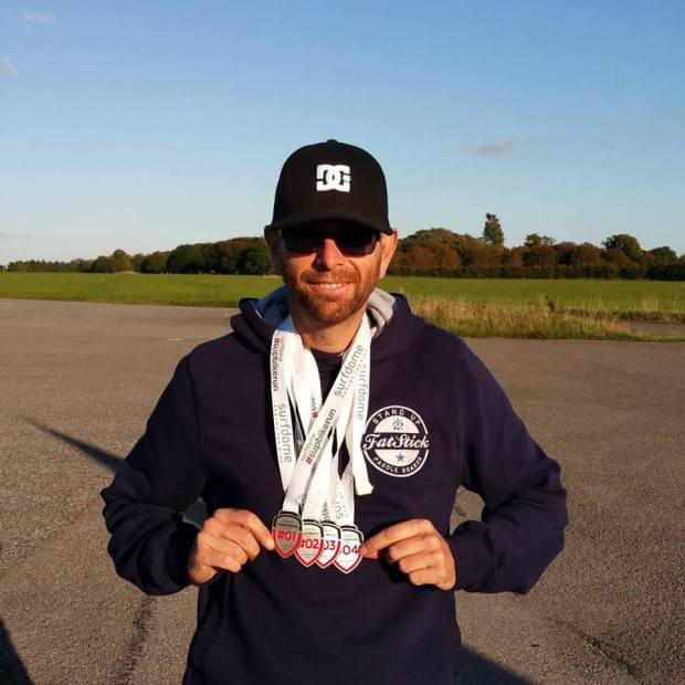 Simon Jeffrey supbikerun medals