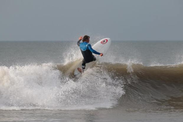 Chris Guts Griffiths surfing