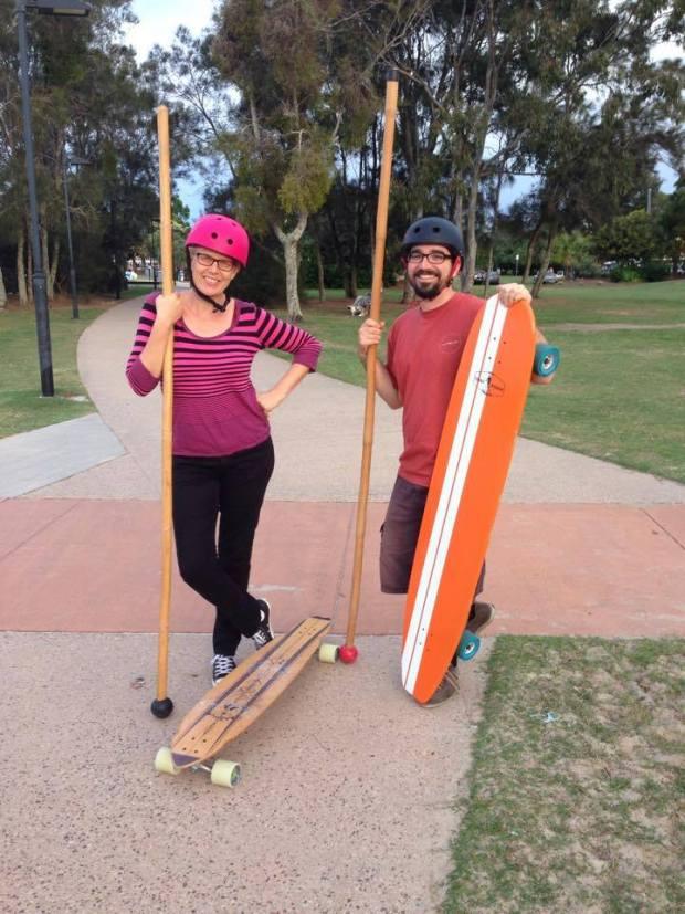 Yenny Stromgren land paddling with mates