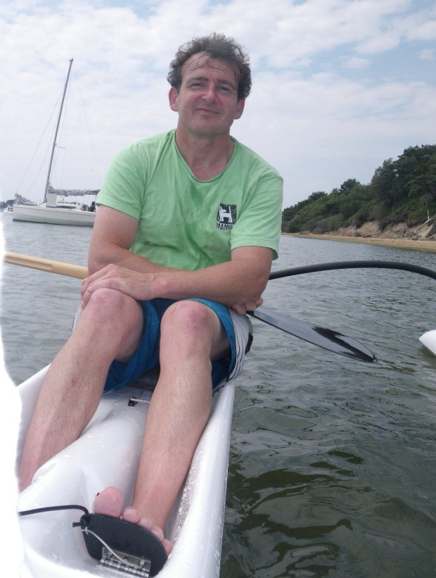 John Galilee paddling