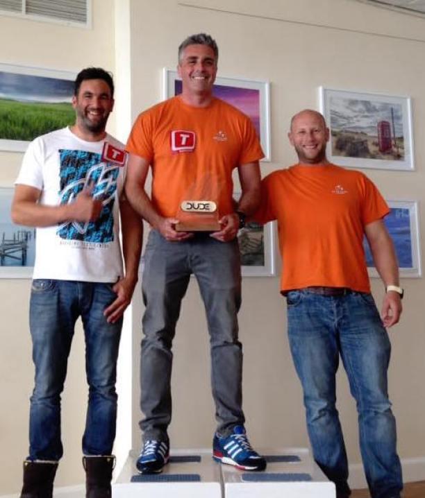 Weymouth Speed Week men's podium 2016