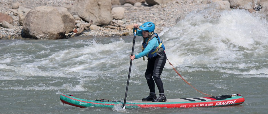 Louise Royle on the Meatgrinder, Sun Kosi River