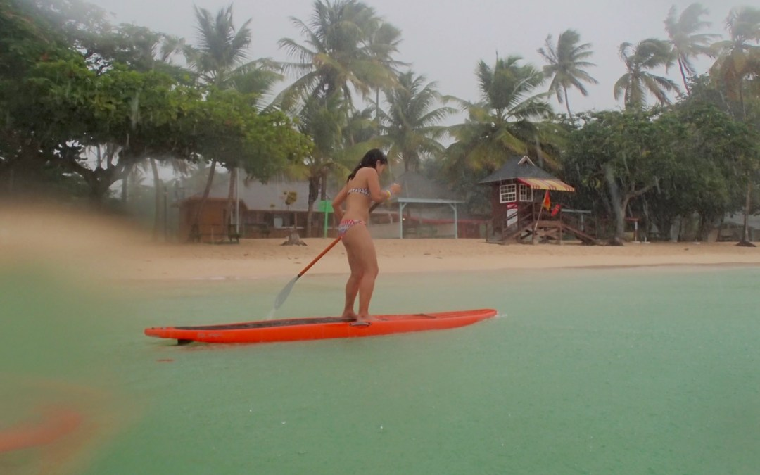 Stand Up Paddle Fun in the Rain