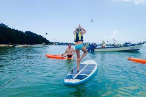 Tree Pose on Stand Up Paddle