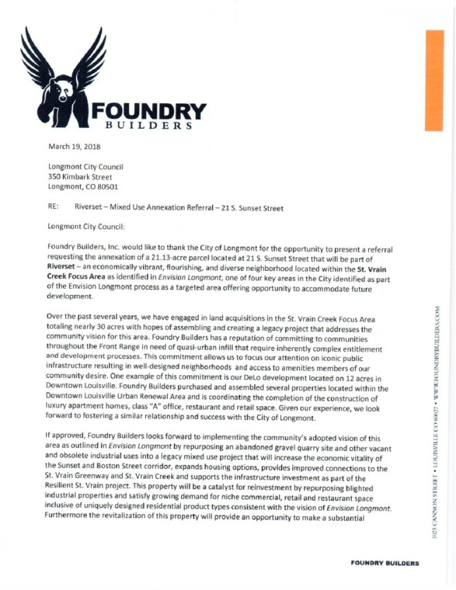 thumbnail of Foundry Builders letter