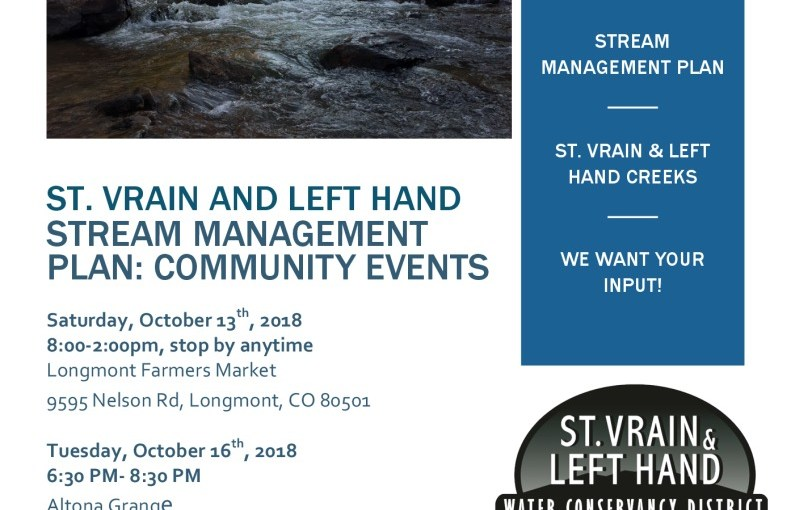 ST. VRAIN AND LEFT HAND STREAM MANAGEMENT PLAN: COMMUNITY EVENTS