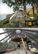 glass-house-forest-wood-rustic