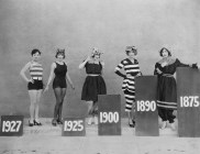 The changing shape of swimwear, Victorian to late 20s
