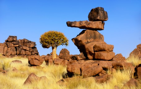 """The beautiful and unusual Rock Formations at the """"Giant's Playground"""" just outside Keetmanshoop in Namibia. Martin Heigan mh@icon.co.za http://anti-matter-3d.com http://www.flickr.com/photos/martin_heigan"""