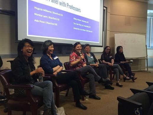 Panel with Professors Monica Lam, Tsu-Jae King Liu, Virginia Williams, Sasha von Meier, Rikky Muller and Ada Poon