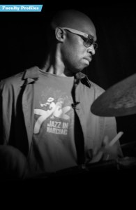 Eric Harland teaches drums at Stanford Jazz Workshop's Jazz Institute, a summer music camp focused on jazz on the campus of Stanford University.