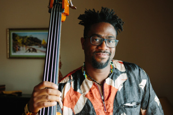 Yunior Terry teaches bass at Stanford Jazz Workshop's Jazz Institute, a summer music camp focused on jazz on the campus of Stanford University.