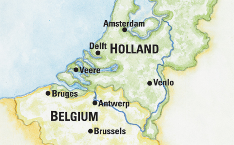 HollandBelgiumMap
