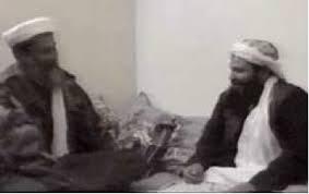 Osama bin Laden with Bosnian jihad veteran Khaled al-Harbi (on right), Afghanistan, November 2001