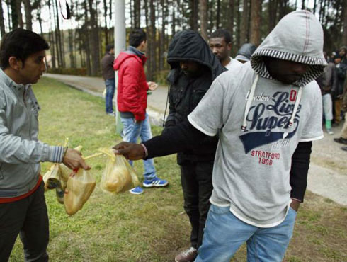 Азиланти у Србији (фото: Reuters)