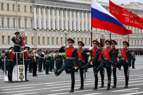 Са параде у част Дана Победе 2013, Москва (фото: Шинхуа)