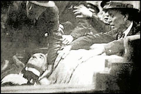 Краљ снимљен тренутак после атентата(Извор: Вечерње новости)