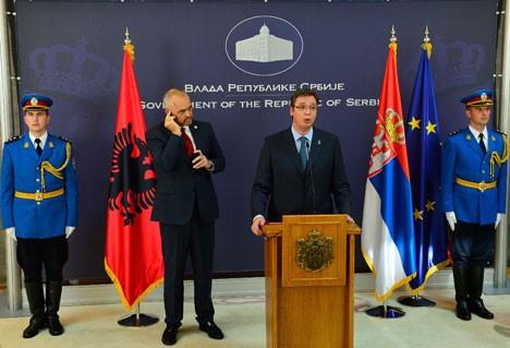 Александар Вучић и Еди Рама на конференцији за штампу