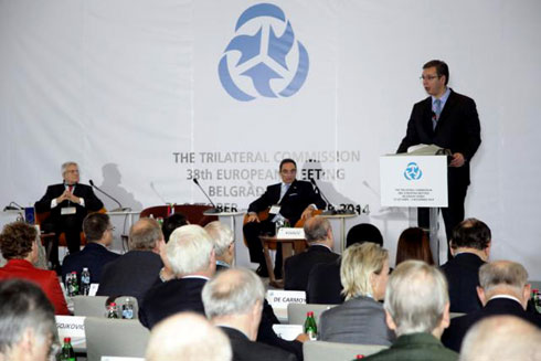 Александар Вучић на састанку Трилатерале у Београду