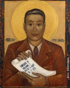 O Сугихарином доброчинству чуло се широм православног света, па постоји и српска икона