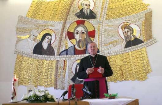 Београд, 02.04.2015 - београдски надбискуп Станислав Хочевар прочитао је данас Ускршњу посланицу