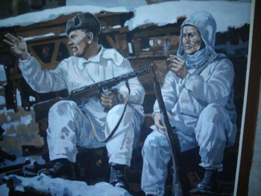 Сликa чувенoг снaјперисте Зaјцевa (Централни музеј Великог Отаџбинског рата)