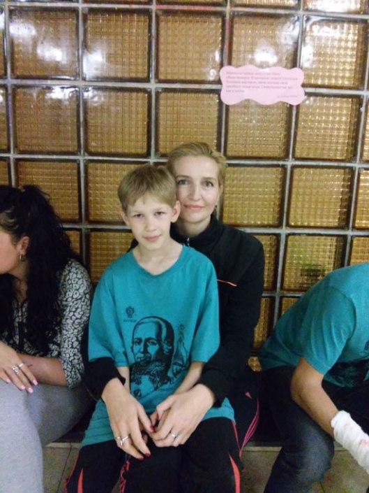 Милана Бабић и руски дечак