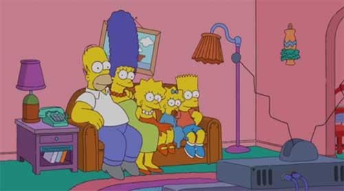Симпсонови на свом почетку, као традиционална породица (Хомер, Марџ, Лиза, Меги и Барт)