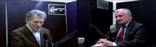 Недељко Којић и професор Миладин Шеварлић (Фото: Јутјуб)