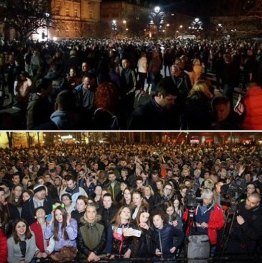 Протест у Смедереву због отказивања концерта Георгиеву (Извор: Фејсбук)