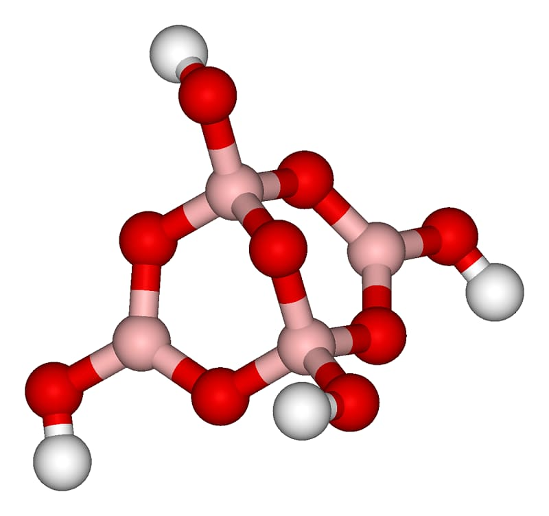 Struktur molekul tetraborasi natrium