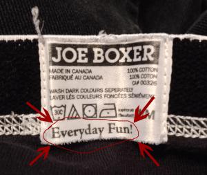 Everyday Fun In My Underwear