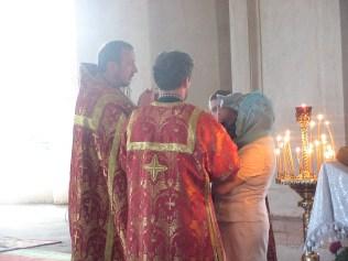 Причастие. Храм в честь Святителя и Чудотворца Николая в Станьково - 22.05.2012