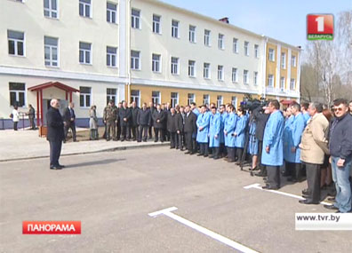 Во время посещения космического центра в Станьково Глава государства пообщался с коллективом