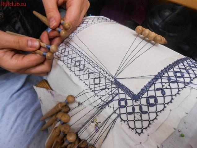 Мастер-класс плетения кружев на коклюшках