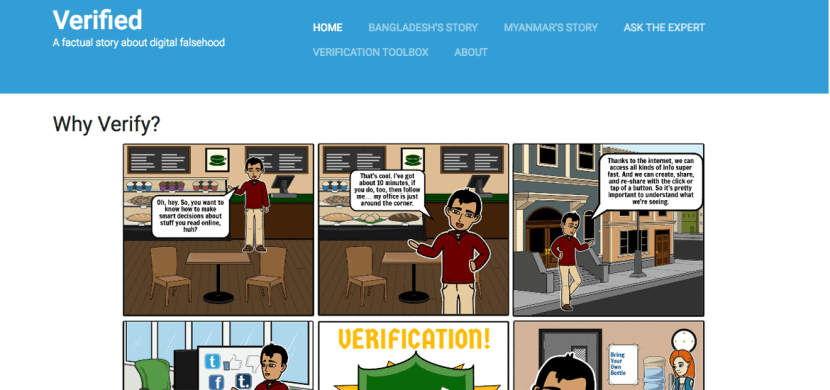 Verified News Literacy Website